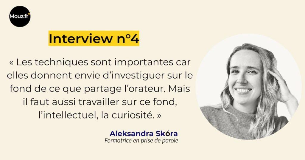 Interview n°4 Aleksandra prise de parole